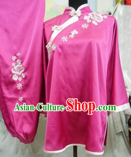 Traditional Chinese Silk Martial Arts Stage Performance Uniform