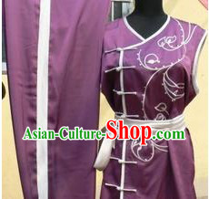 Traditional Chinese Nan Quan Embroidered Martial Arts Top and Pants