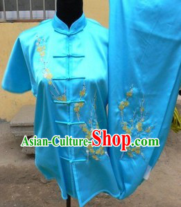 Traditional China Blue Kung Fu Uniforms