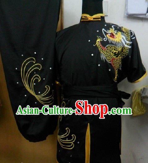 Traditional China Dragon Short Sleeves Kung Fu Uniforms for Men