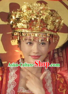 Traditional Chinese Wedding Hat for Brides