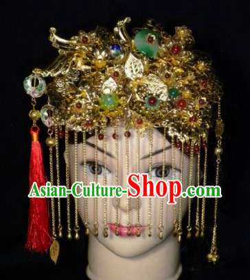 Traditional Chinese Wedding Headdress for Brides