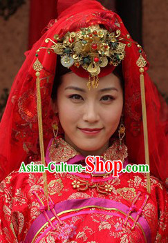 Traditional Chinese Bridal Wedding Headpieces