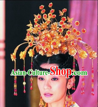 Traditional Chinese Tang Dynasty Princess Phoenix Hairpins and Accessories Complete Set