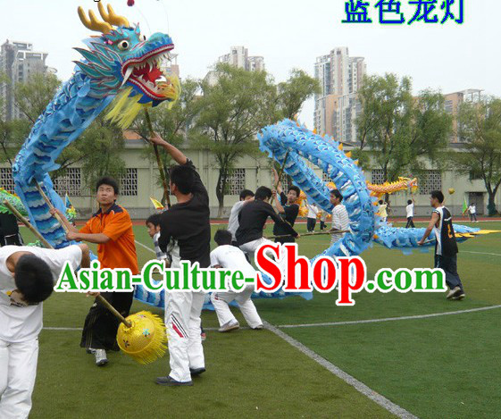 Happy Celebrations 18 Meters Blue Dragon Dance Costume Complete Set