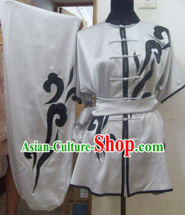 White Mandarin Martial Arts Taiji Uniforms and Belt