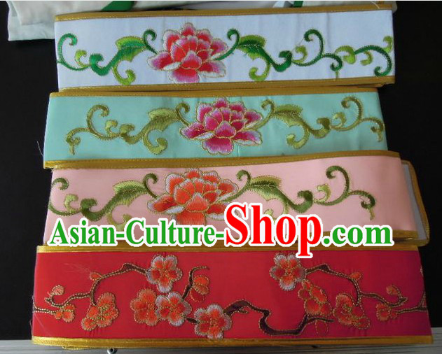 Traditional Chinese Flower Embroidery Opera Belt