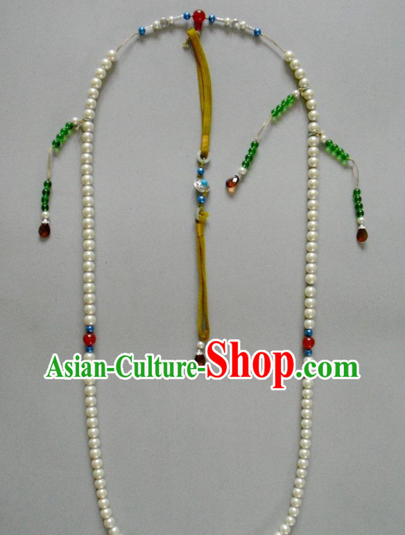 Traditional Chinese Qing Dynasty Official Chao Zhu Long Necklace for Emperor