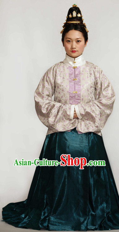 Ancient Chinese Ming Dynasty Clothes Complete Set for Women