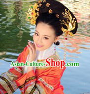 Qing Dynasty Chinese Palace Lady Wig and Hair Accessories Set