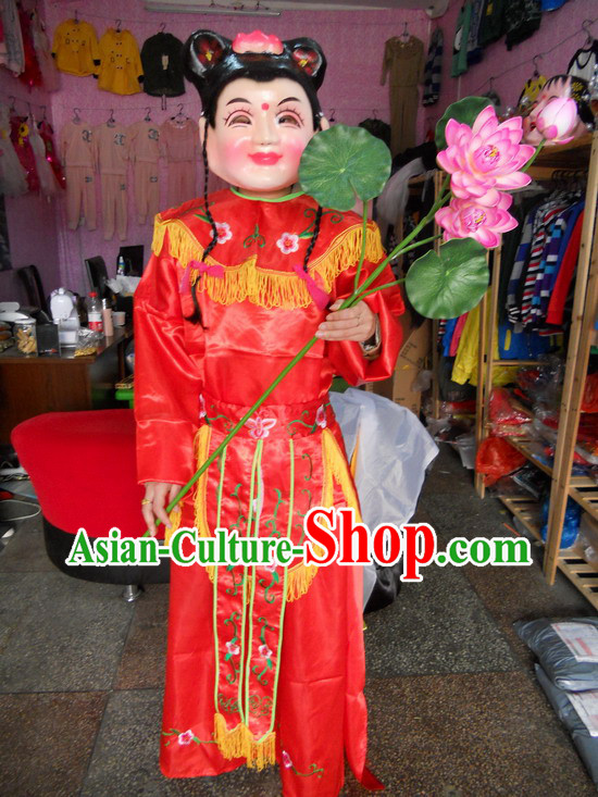 Ancient China Legend The Eight Immortals Crossing the Sea Lan Caihe Parade Costumes