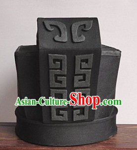Ancient Chinese Qin and Han Dynasty Government Official Hat for Men
