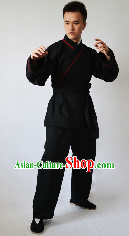 Ancient Chinese Kung Fu Clothing Complete Set for Men