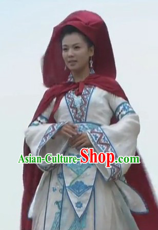 Traditional Chinese Goddess Matsu of the Sea Ma Zu Costumes and Hair Accessories Complete Set