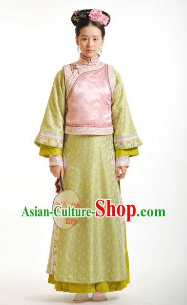 Bu Bu Jing Xin Liu Shi Shi Cecilia Qing Imperial Lord Robe and Qi Tou Accessories