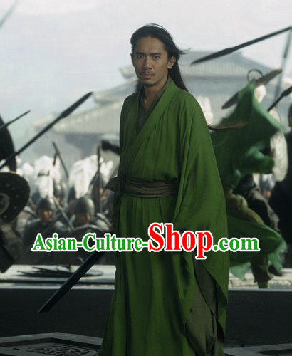 Liang Chaowei Tony Leung Chiu Wai Green Han Clothing in Film Hero