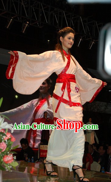 Miss Chinese Pageant Beauty Contest Guzhuang Robe and Skirt