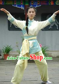 Martial Arts Kung Fu TV Drama Use Shirt and Pants for Ladies
