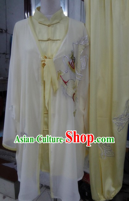 Professional Tai Chi Embroidered Dragon Cape and Uniform for Men or Women