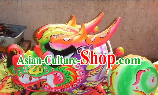 Traditional Chinese Dragon Dance Head Costume for School Students