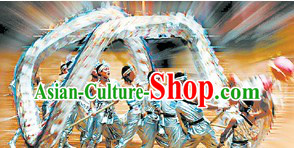 Professional Competition and Parade Shinning Easy Handle Handmade Net Dragon Dance Costume for Men