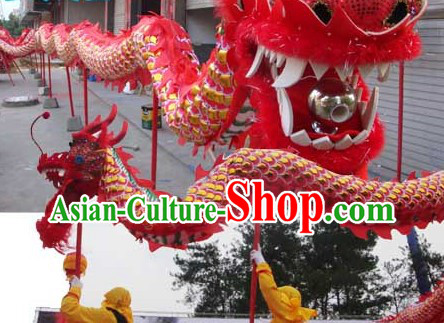 Red Zhejiang Province Armor Dragon Dance Costume Prop for Adults