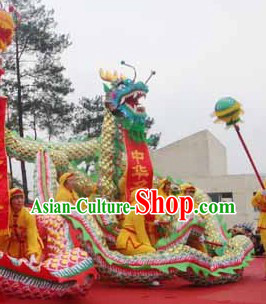 Traditional Chinese Armor Dragon Dance Costume Complete Set