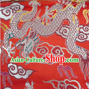Red Dragon Tibetan Style Fabric
