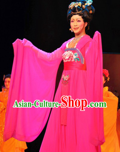 Ancient Chinese Tang Dynasty Ribbon Dance Costumes for Women