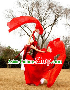Ancient Chinese Red Cosplay Costumes Wig and Hair Accessories