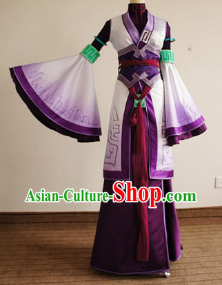 Ancient Chinese Swordswoman Cosplay Costumes Complete Set