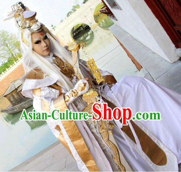 Ancient Chinese Dragon Hero Costumes and Accessories Complete Set