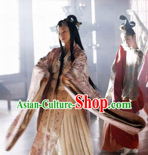 Ancient Chinese Sun Zi Da Zhuan Empress Clothing Complete Set