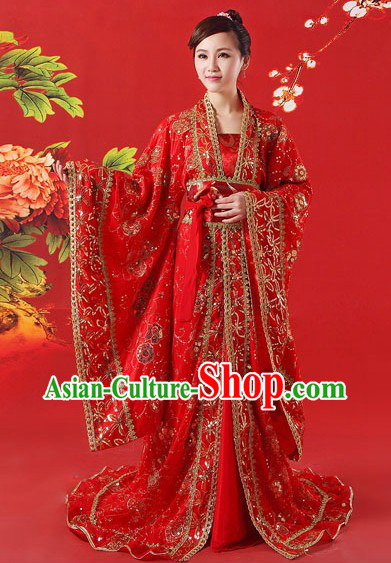 Ancient Chinese Zhang Ziyi Ye Yan Red Dresses