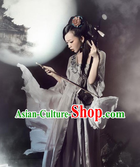 Ancient Chinese Photography Musician Costumes for Women
