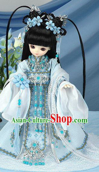 Traditional Chinese Clothing Long Wig Accessories for Children