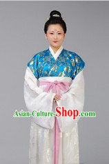 Blue Ancient Chinese Tang Dynasty Clothing for Women