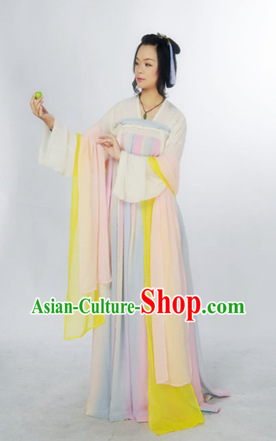 Ancient Chinese Tang Dynasty Girl Suit