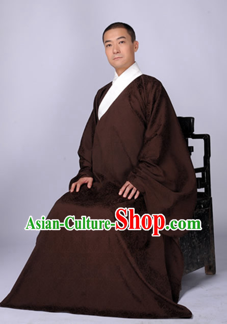 Traditional Chinese Cotton Robe for Men