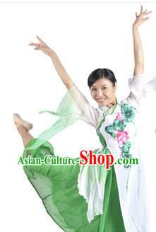 Traditional Chinese Lotus Classical Dancing Stage Performance Costume