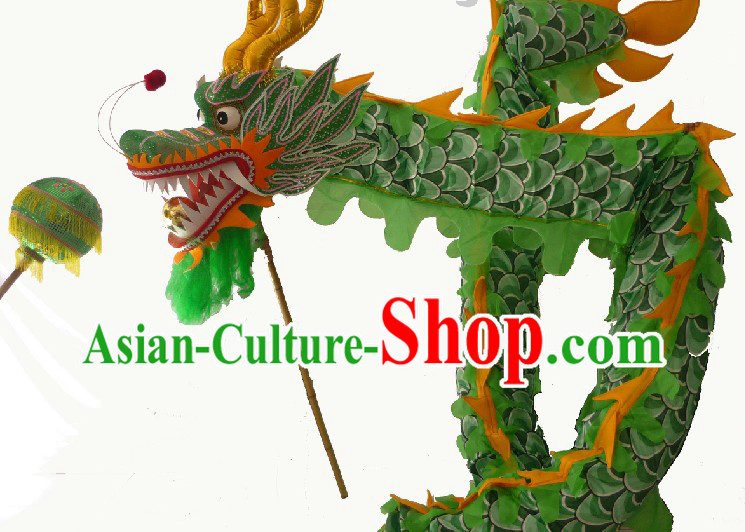 65 Meters Long Chinese Classical Dragon Dancing Costumes for 33-34 People