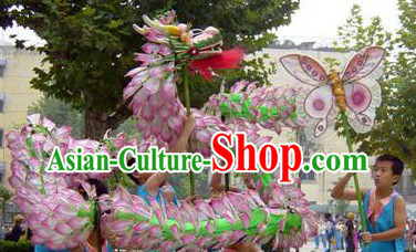 Ancient Chinese Style Lotus Dragon Dance Props for Children