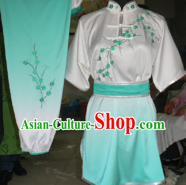 Long Stick Wushu Champioinship Silk Uniforms