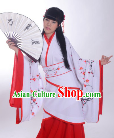 Free Shipping Ancient Chinese Apparel Imperial Beauty Plum Blossom Clothes