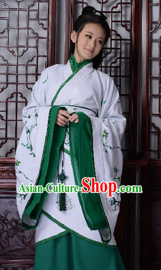 Ancient Chinese Handmade Han Fu Gu Zhuang Costumes for Women