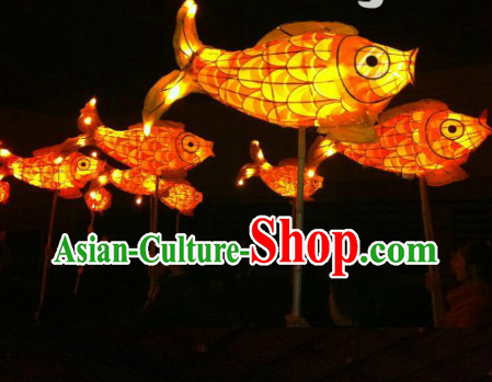 Traditional Chinese New Year Fish Carp Lanterns