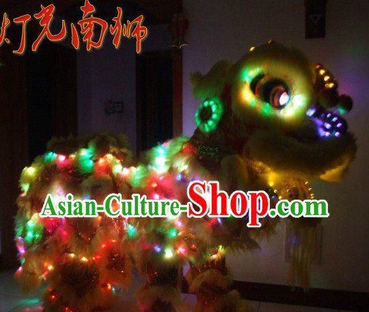 Supreme LED Lights Lion Dance Costumes Complete Set