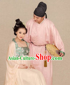 Traditional Ancient Chinese Tang Dynasty Pregant Couple Outfits Costumes