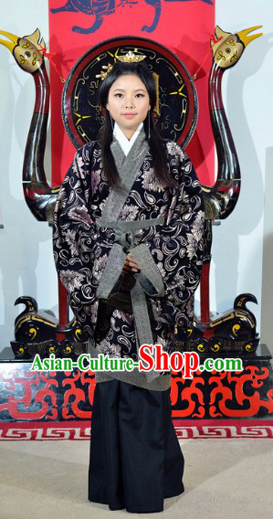 Traditional Ancient Chinese Han Dynasty Clothing Attire Robe