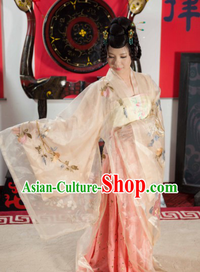 Traditional Ancient Chinese Tang Dynasty Outfit Clothes for Women